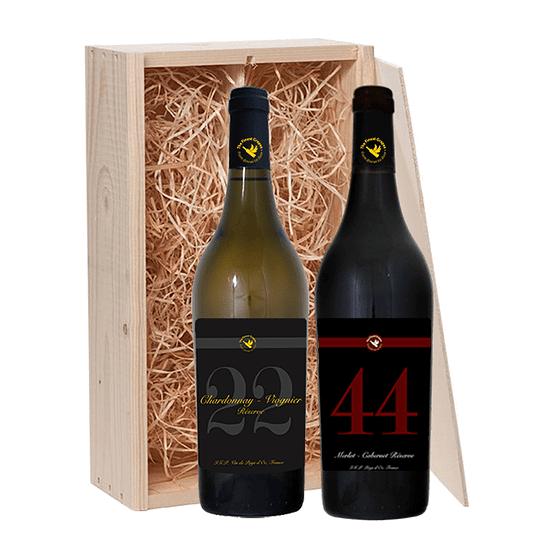 2 fles wijnkist the finest grapes nr 22 chardonnay